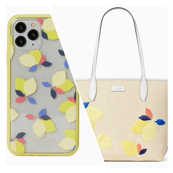 Kate Spade lemon zest tote bag iPhone 11 Pro case